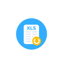 download xls document file icon vector image