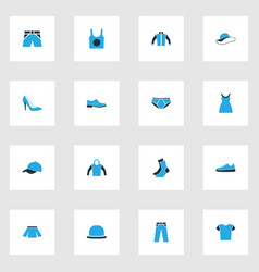 Dress colorful icons set collection of sneakers vector