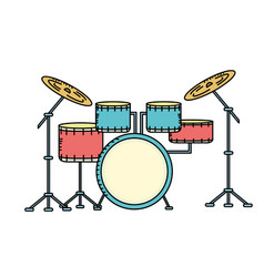 Drums musical instrument to play music vector