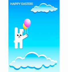 Easter rabbit vector image