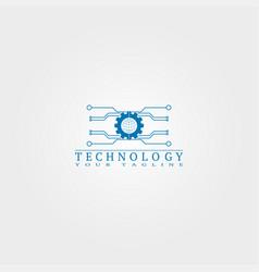 Electronic icon template logo technology vector