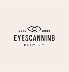 eye scanning hipster vintage logo icon vector image
