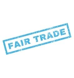 Fair Trade Rubber Stamp vector