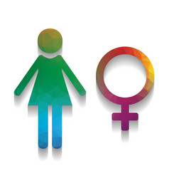 female sign colorful icon vector image