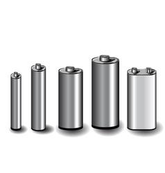 five batteries vector image