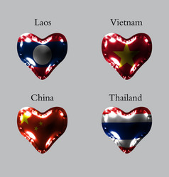 Flags of the asian countries the flags of laos vector