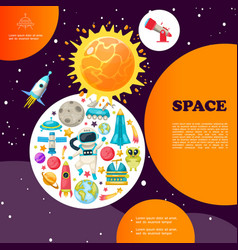 flat space colorful template vector image