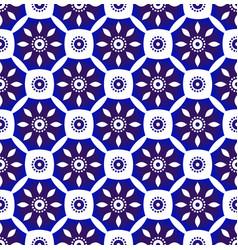 flower indigo seamless pattern vector image