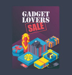 gadget lovers sale poster vector image