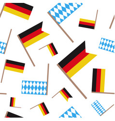 German and bavarian flag seamless pattern vector