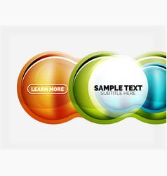 glass or plastic hi-tech bubble background vector image