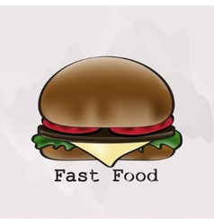 Hamburger in a watercolor style vector image