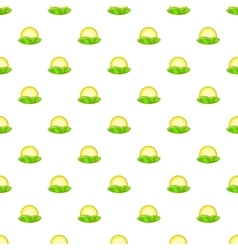 Hill and sun pattern cartoon style vector