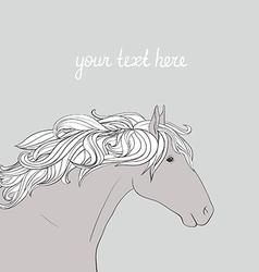 HorseHead2 vector image