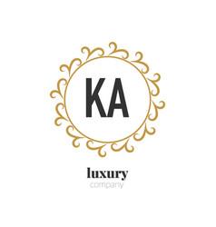 Initial letter ka luxury creative design logo vector