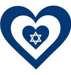 Israel heart vector