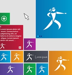 Karate kick icon sign buttons Modern interface vector