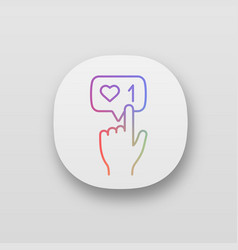 like counter button app icons set vector image