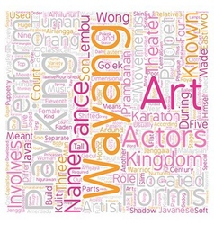 Malaysian Theater Arts text background wordcloud vector image