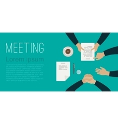 Meeting flat banner vector