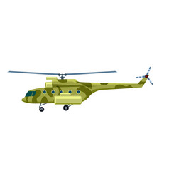 military helicopter isolated icon vector image