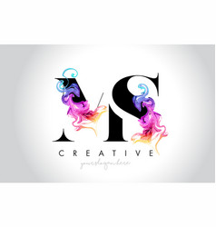 Ms vibrant creative leter logo design with vector