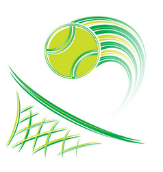 net and volleyball vector image