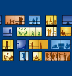 People in apartments vector