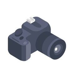 Photo camera 3d isometric icon isolated on vector