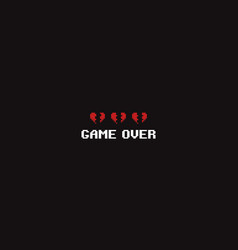 pixel game over vector image