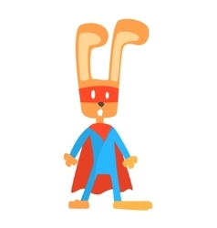 Rabbit Smiling Animal Dressed As Superhero With A vector image