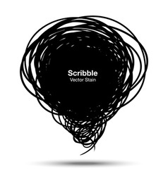 Scribble black bubble vector