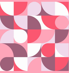 seamless abstract red geometric round ornament vector image