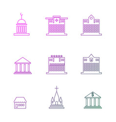 Set public government commercial vector