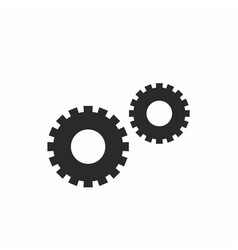 settings gears icon for app web design vector image