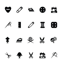 Sewing Icons 4 vector image
