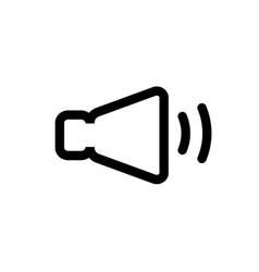 speaker line icon high quality black outline logo vector image