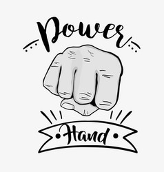 sprong power hand protest revolution vector image