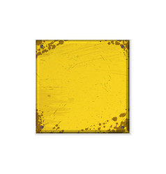 square yellow grunge frame vector image