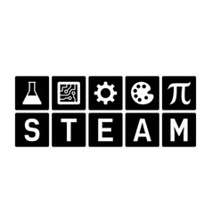 Steam - science tech engineering art and math icon vector