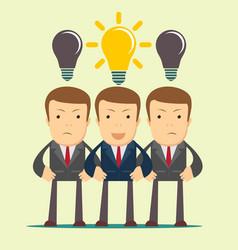 three hard thinking men vector image