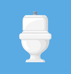 toilet in a flat style vector image