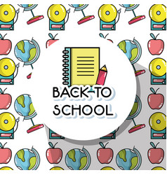 Tools to back schools background design vector