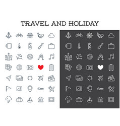 travel icons set great for all purposes like vector image