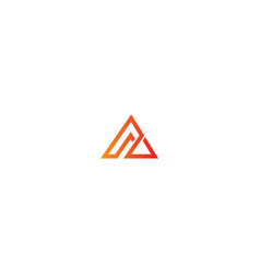 triangle line abstract business logo vector image