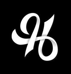 Typography letter h symbol design vector
