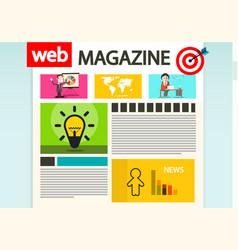 web magazine cover internet design vector image