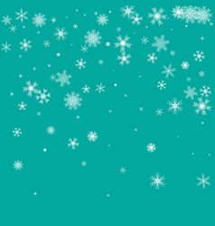 winter pattern with crystallic snowflakes vector image