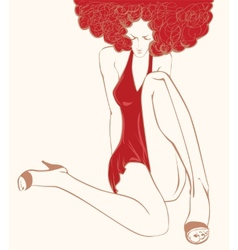 Woman in Red vector image
