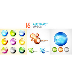 collection of bubbles and sphere symbols vector image